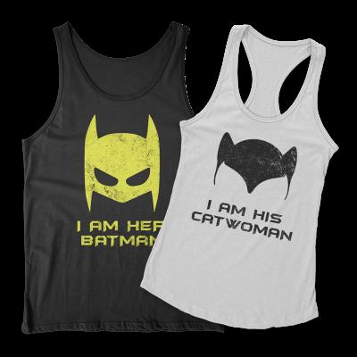 Batman Catwoman Páros Trikó