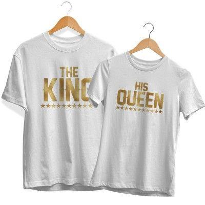 The King His Queen (Metallic) Páros Póló