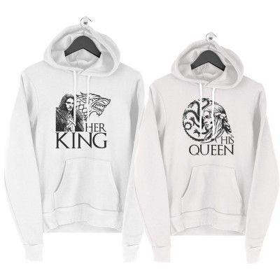 Game of Thrones King Queen Páros Pulcsi