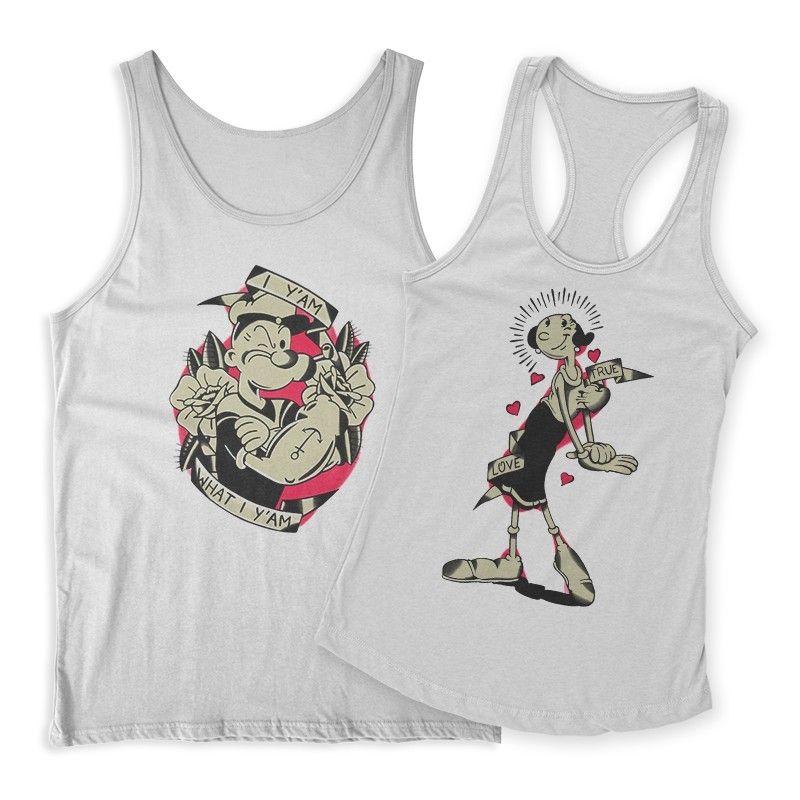 Popeye & Olive Páros Trikó