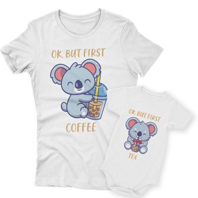 First Coffee&Tea Koala Páros Póló Bodyval