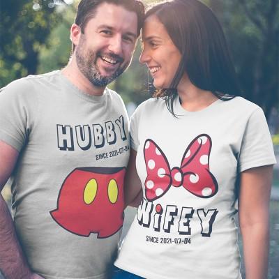 Hubby Wifey Páros Póló