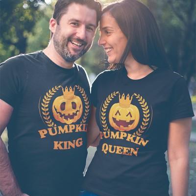 Pumpkin King Queen Páros Póló