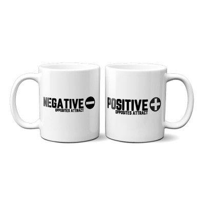 Pozitív Negatív Páros Bögre
