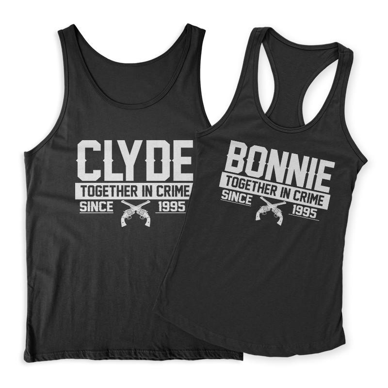 Bonnie Clyde évfordulós Páros Trikó