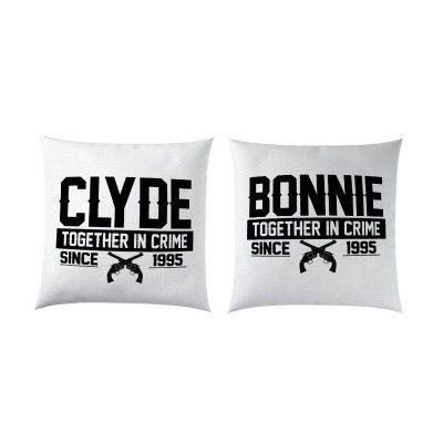 Bonnie Clyde évfordulós Páros Párna