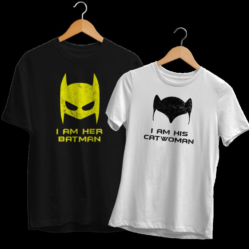 Batman Catwoman Páros Póló